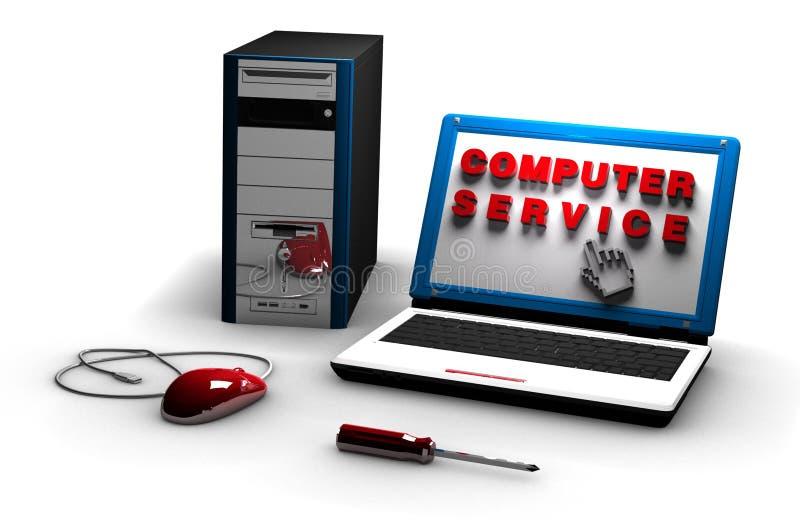 Servço informático ilustração do vetor