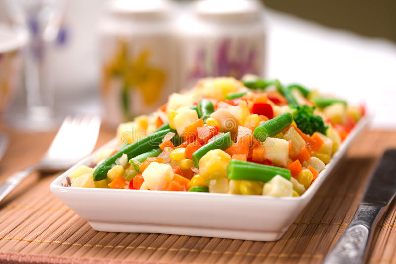 Download Served Chopped Vegetables Mixture Stock Image - Image: 12549995