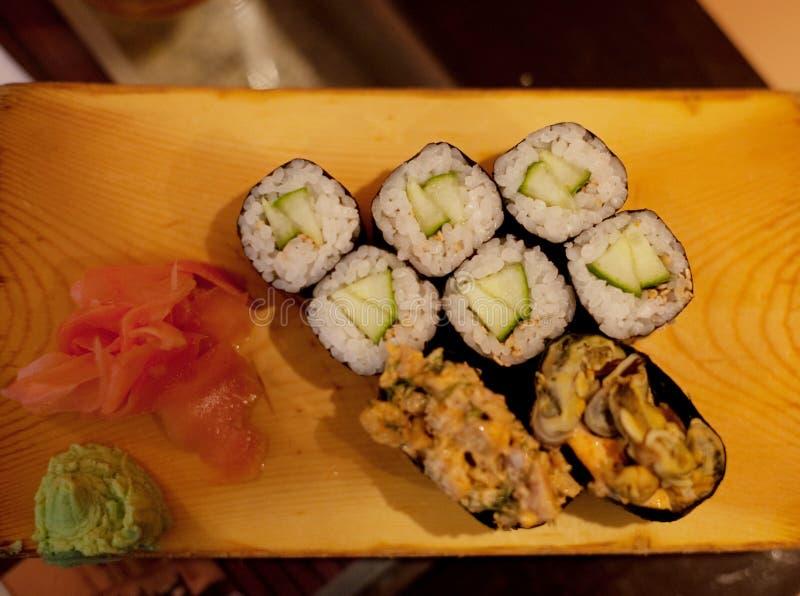 Download Served maki rolls stock image. Image of asian, food, flower - 11111969