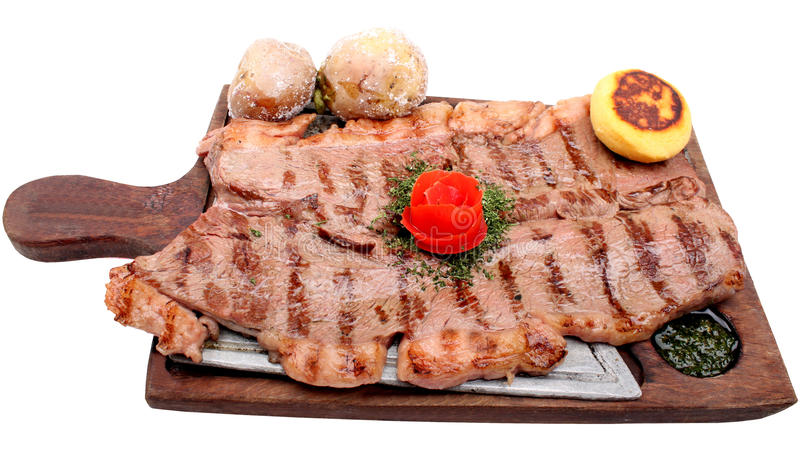 Download Served Roasted Beef Meat Steak Stock Image - Image: 13192763