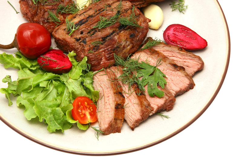 Download Served Roasted Beef Steak Stock Photography - Image: 6400272