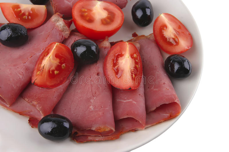 Download Served Sausage Sliced Royalty Free Stock Images - Image: 9784289