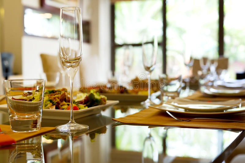 Download Served table. stock image. Image of fine, napkin, cloth - 27176955