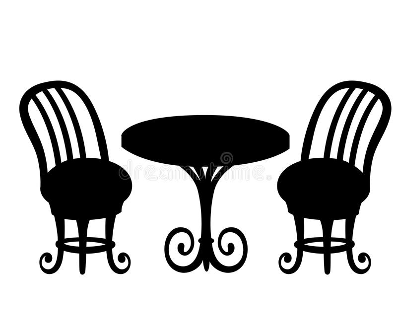 Served table in the restaurant. Furniture single icon in cartoon style Isometric symbol stock illustration web. Web site pa stock illustration