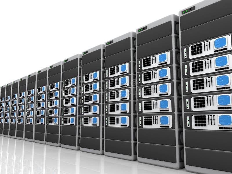 server 3d illustrazione vettoriale