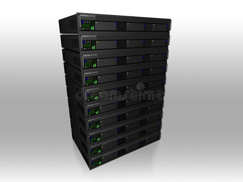 Server 3d stock abbildung