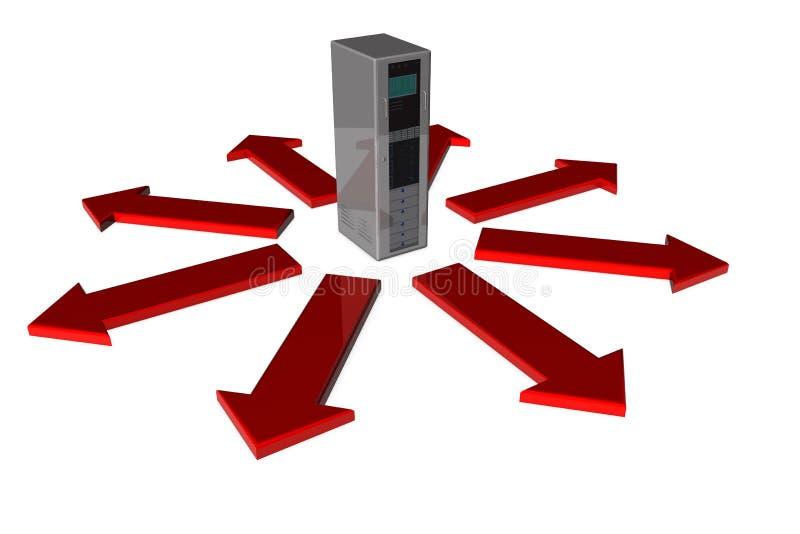 Download Server with arrows stock illustration. Illustration of deliver - 21550207