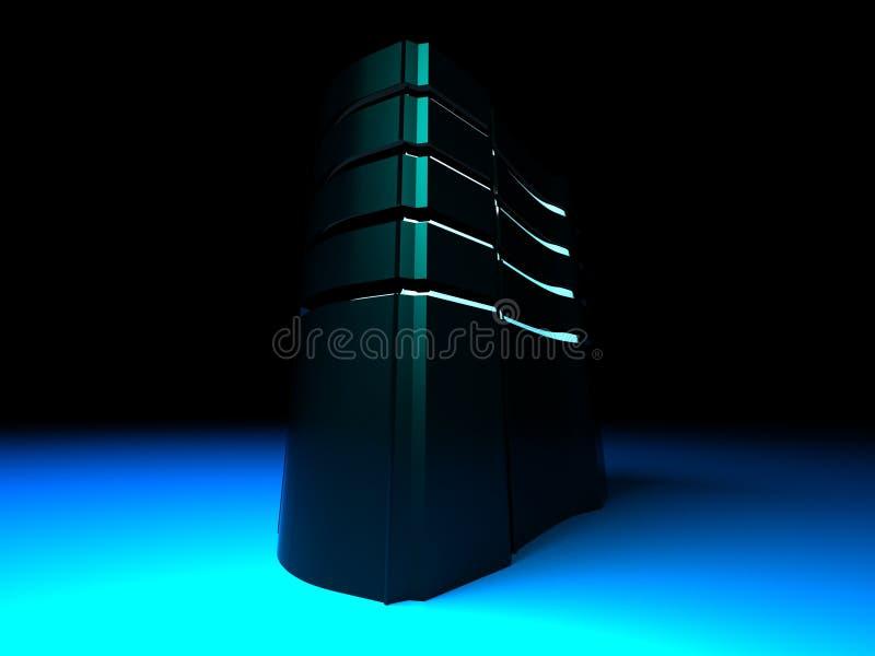 Server blu scuro illustrazione di stock
