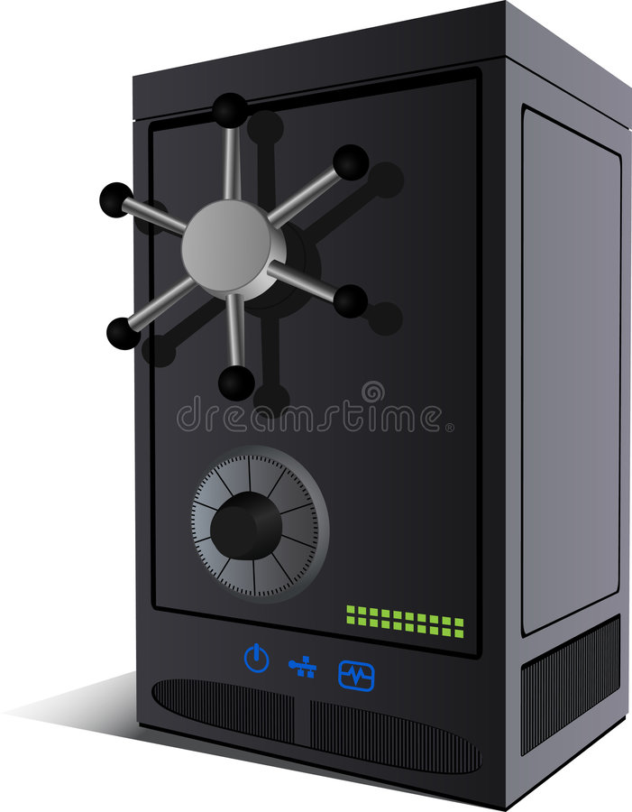 Server-brandkast royalty-vrije illustratie