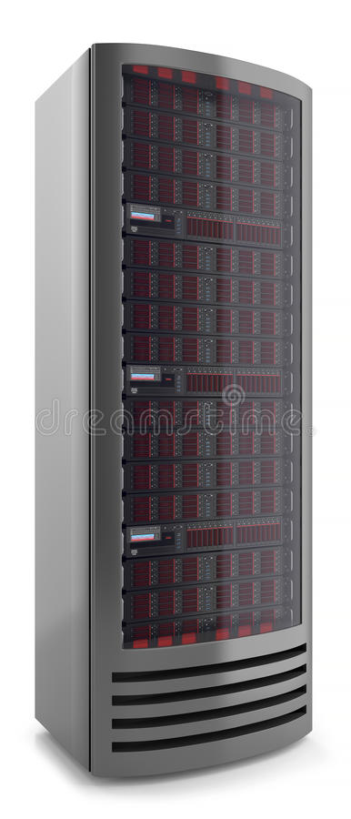 Server cabinet panel 3d stock illustration