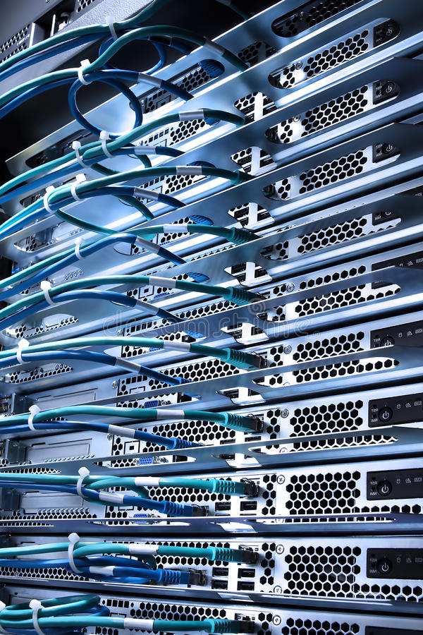Server And Cables Royalty Free Stock Photos