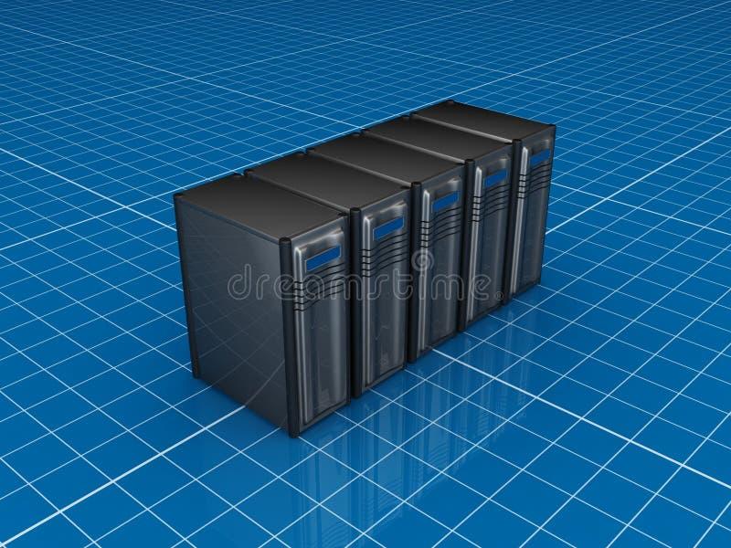 Server cinzentos ilustração do vetor