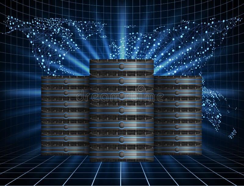 Server con fondo illustrazione di stock