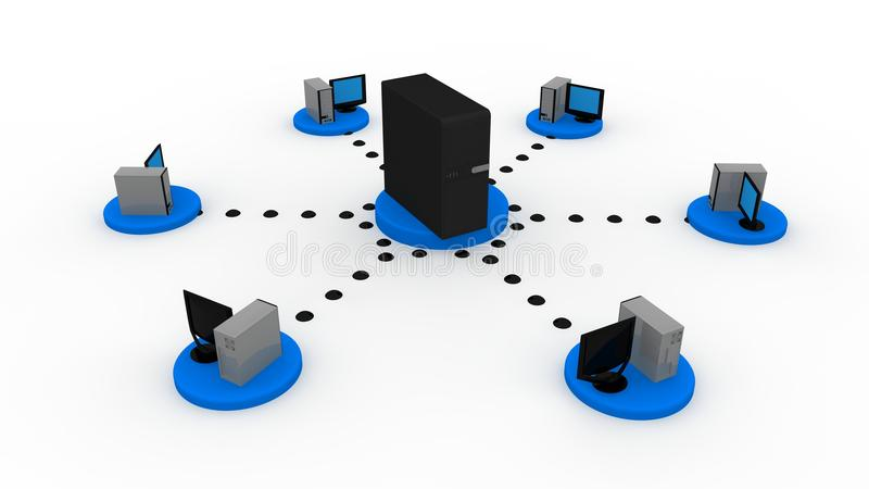 Server concept royalty free illustration