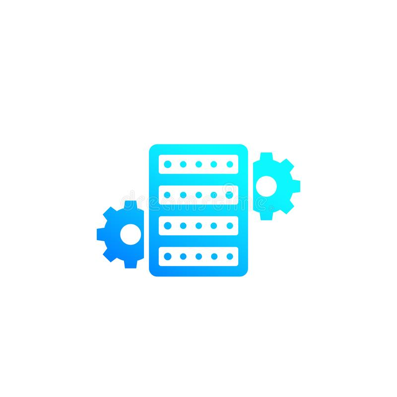 Server configuration icon. Eps 10 file, easy to edit royalty free illustration