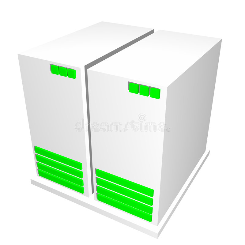 Server CPU Machine stock illustration