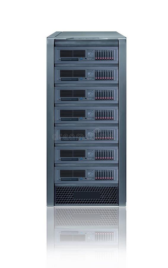 Server da cremalheira imagem de stock