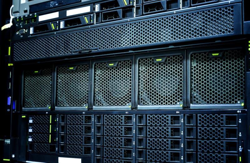 Server data center closeup with details , fans, panel hard drives. Server data center closeup with parts , fans, panel hard drives stock image