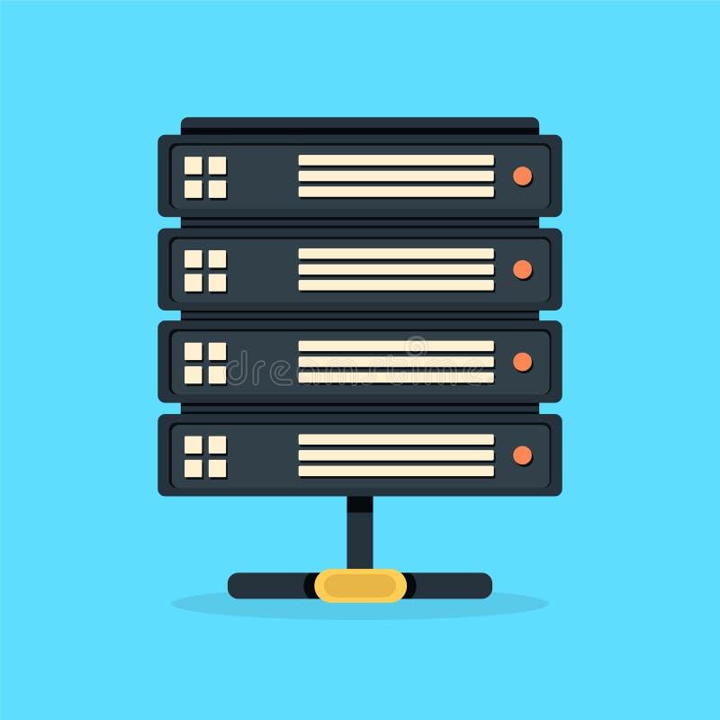 Server data center icon stock illustration