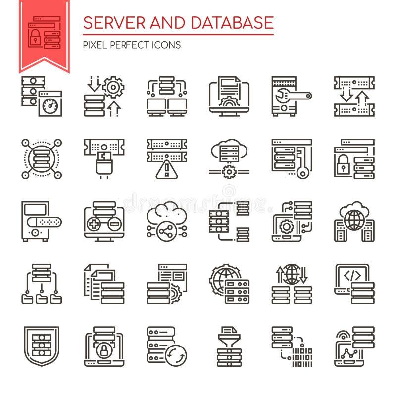 Server and Database stock illustration