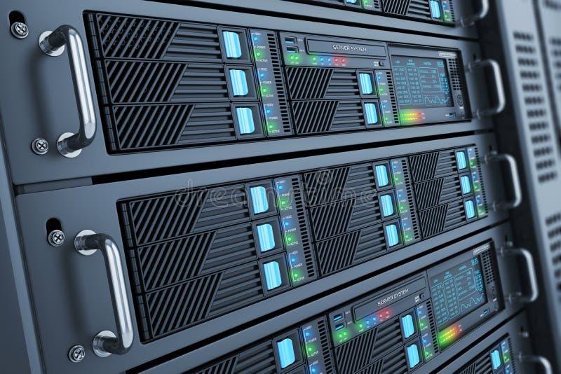 Server datacenter panels royalty free illustration