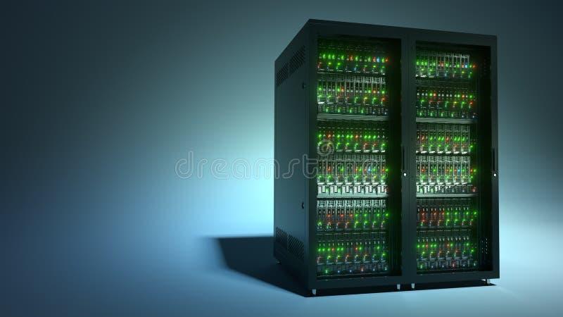 server Datenverarbeitungswiedergabe der Datenspeicherung 3d der Wolke lizenzfreie stockbilder