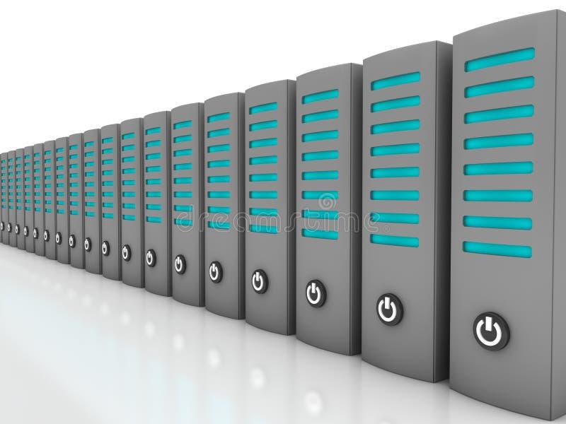 Server de dados em uma fileira ilustração stock