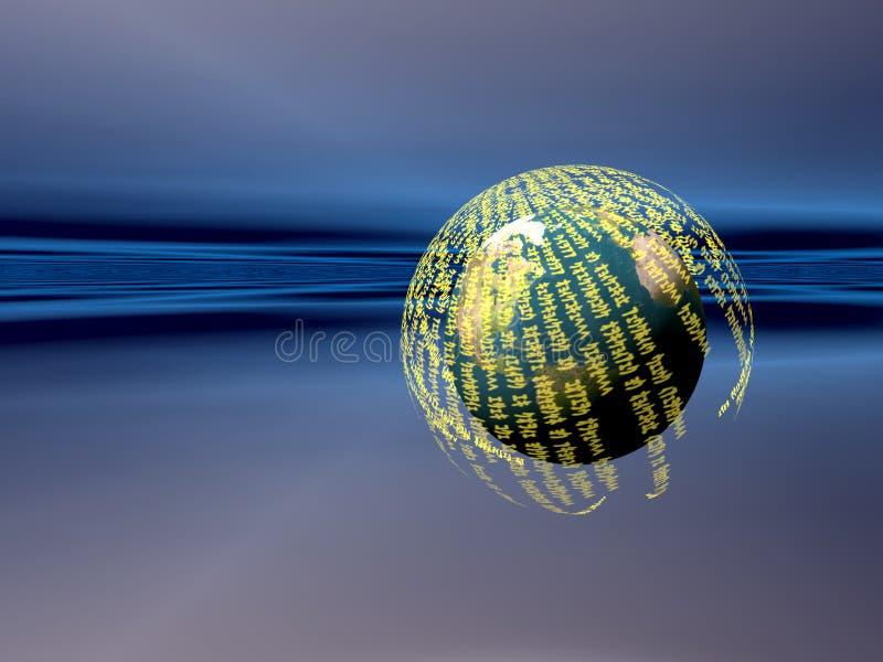 Server di dati, realtà vitual illustrazione di stock