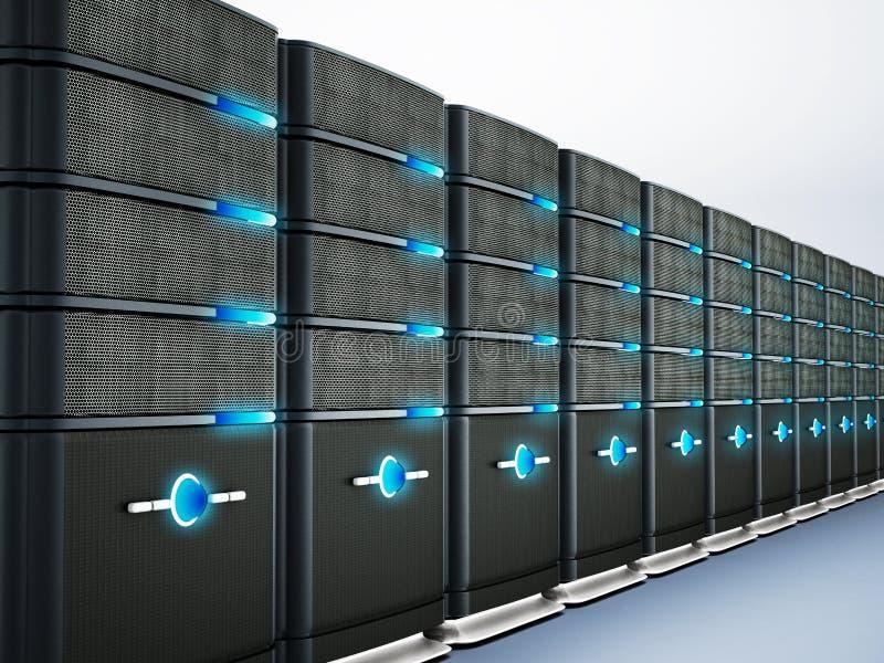 Server di rete illustrazione 3D illustrazione vettoriale