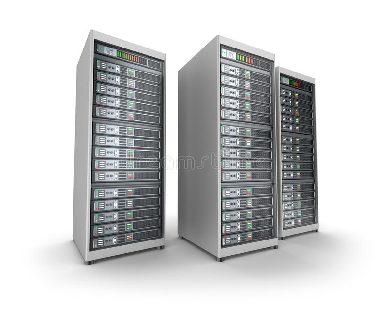 Server di rete nel centro dati royalty illustrazione gratis