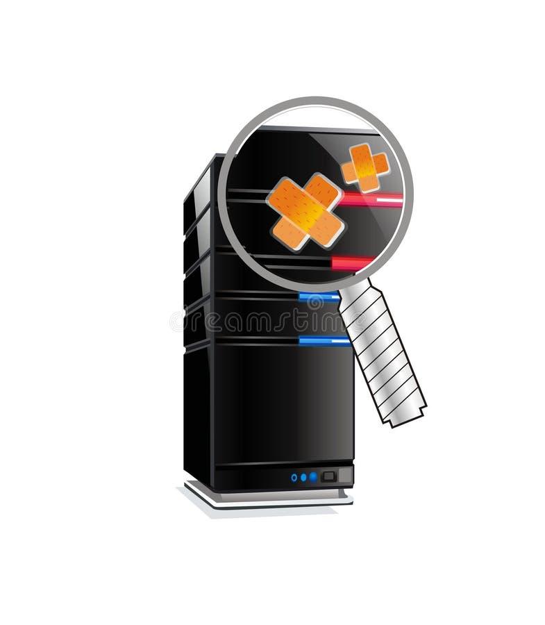 Server do computador da Un-Saúde ilustração stock