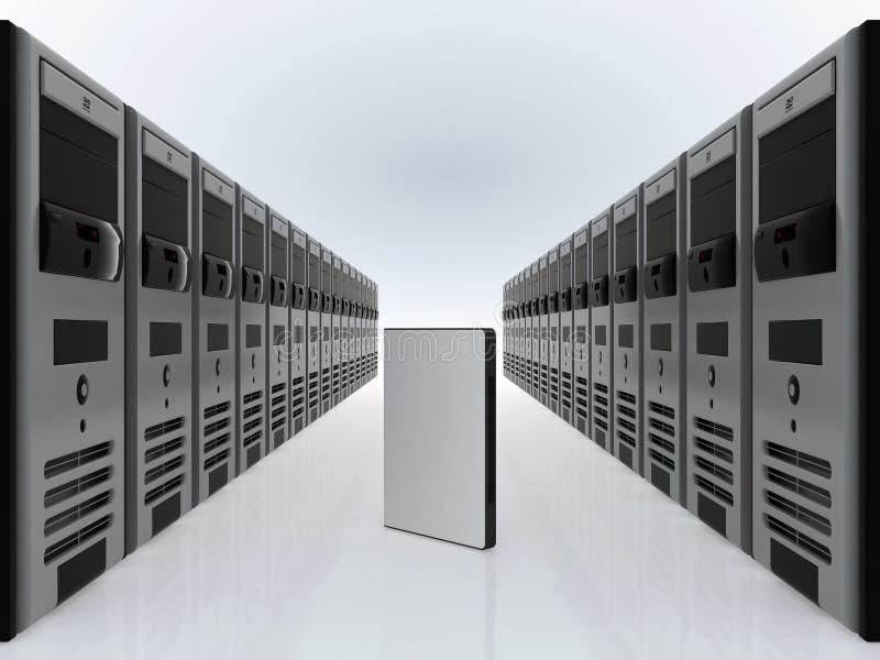 Server do computador e de software de DVD caso ilustração do vetor
