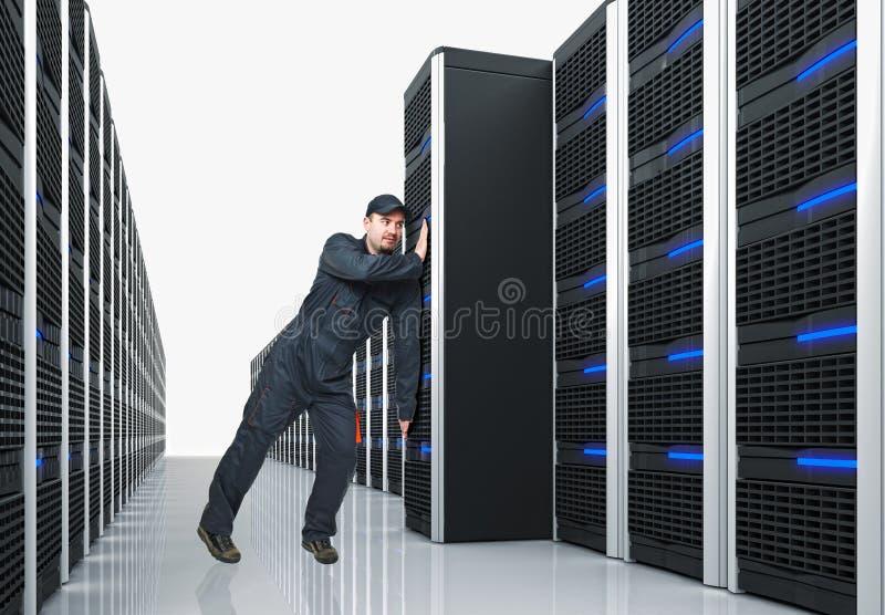 Server do movimento do homem imagens de stock royalty free