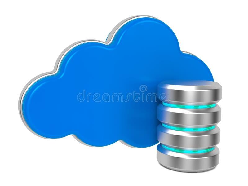 Server e nuvens. ilustração stock