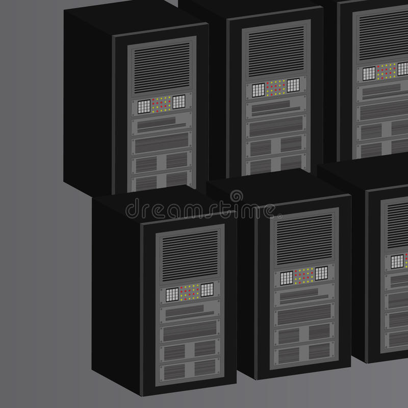 Server Farm royalty free illustration