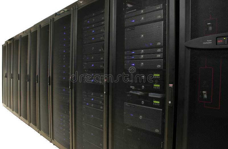 Server Farm: Data Center - Isolated royalty free stock images