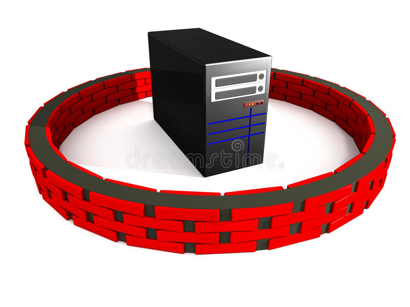 Server firewall security royalty free illustration