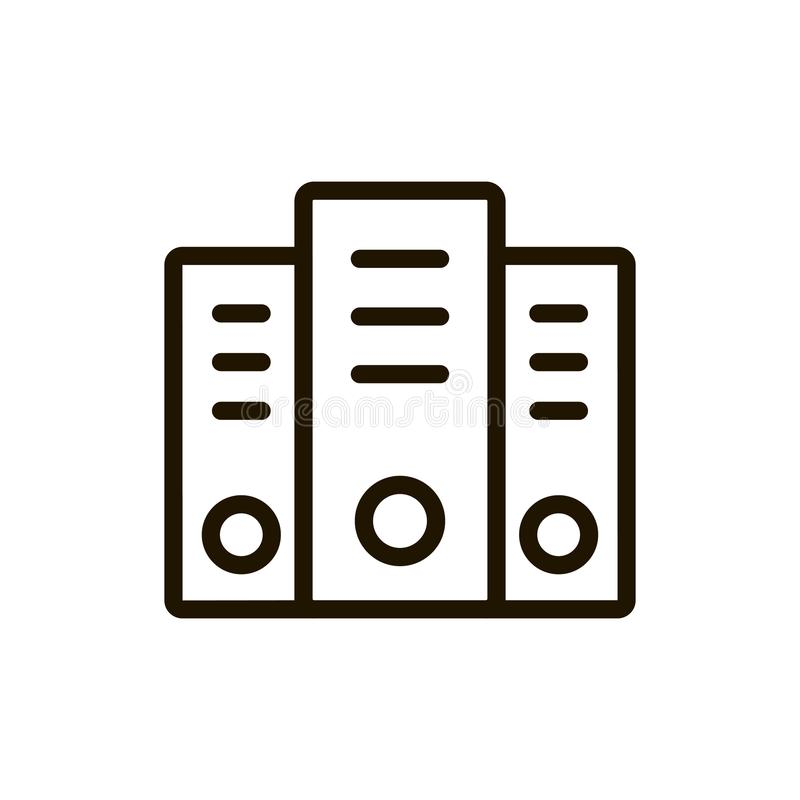 Server flat icon. Single high quality outline symbol of computer for web design or mobile app. Thin line signs of hosting for design logo, visit card, etc stock illustration