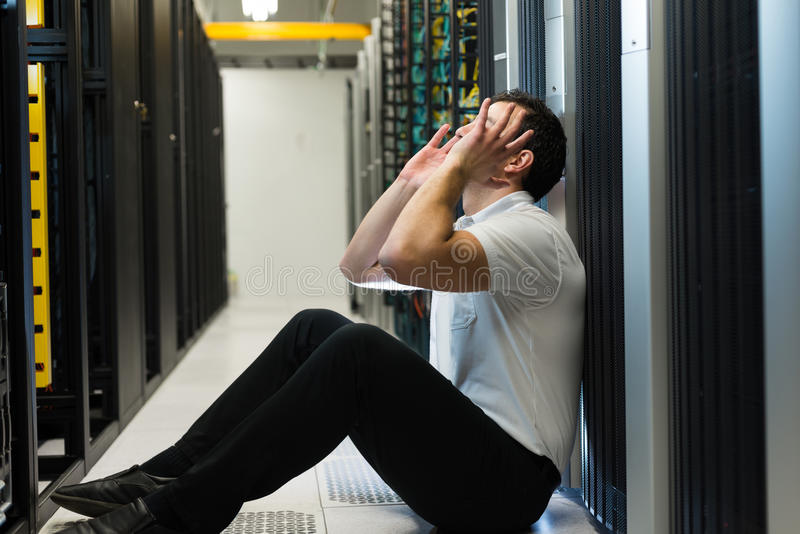 Server frustration stock photo