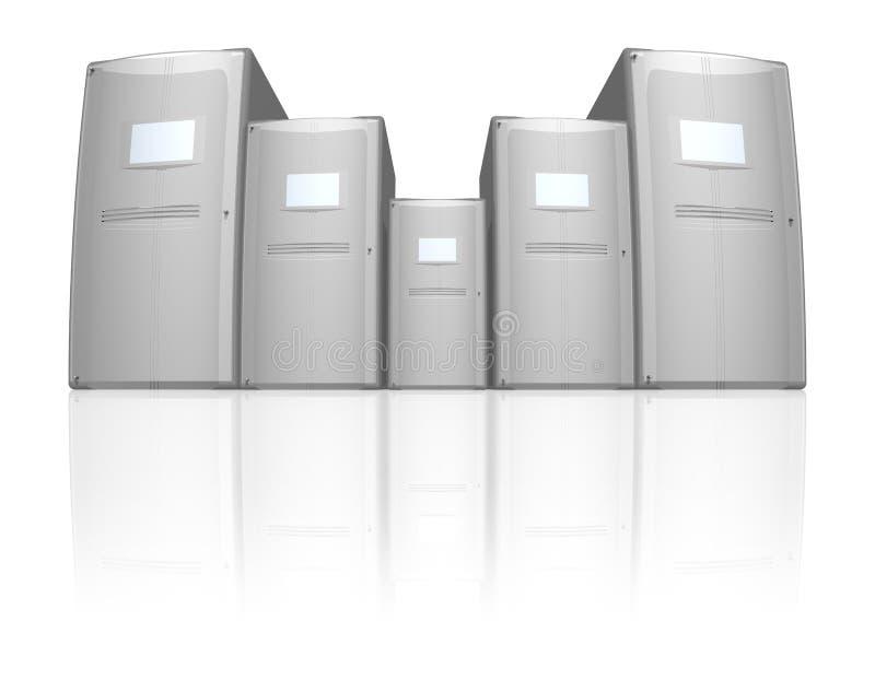 Server generations stock illustration