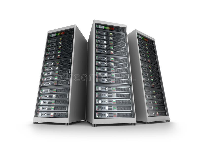 IT server grid. Over white