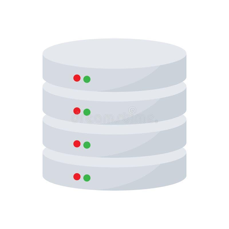 Server hosting. Database icon stock illustration
