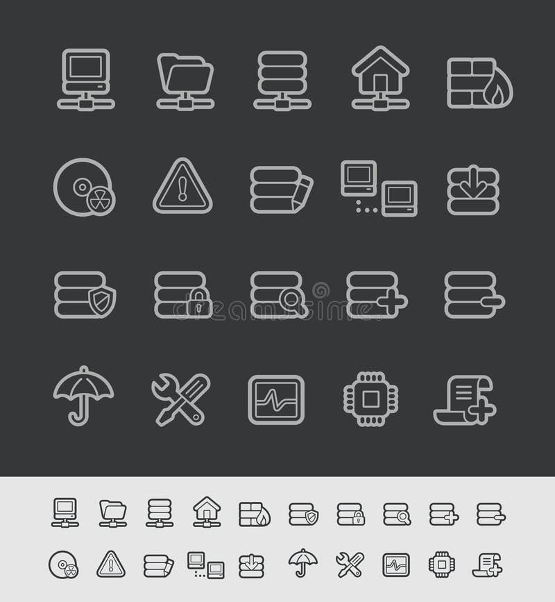 Server Icons // Black Line Series vector illustration