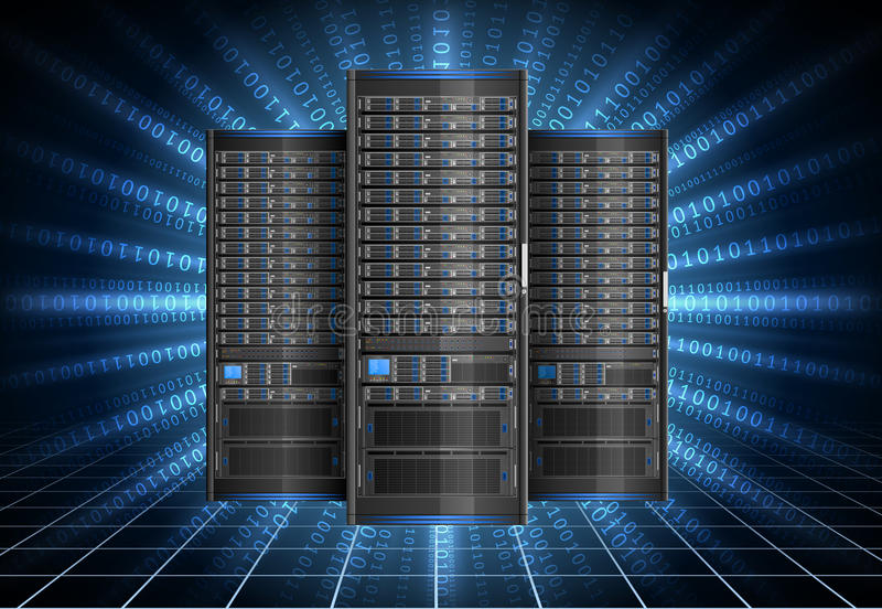 Server im Cyberspace stock abbildung