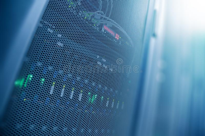 Server internet datacenter room, network, technology concept background, Server is the internet equipment for many purposes. Data. Center is the server control royalty free stock images