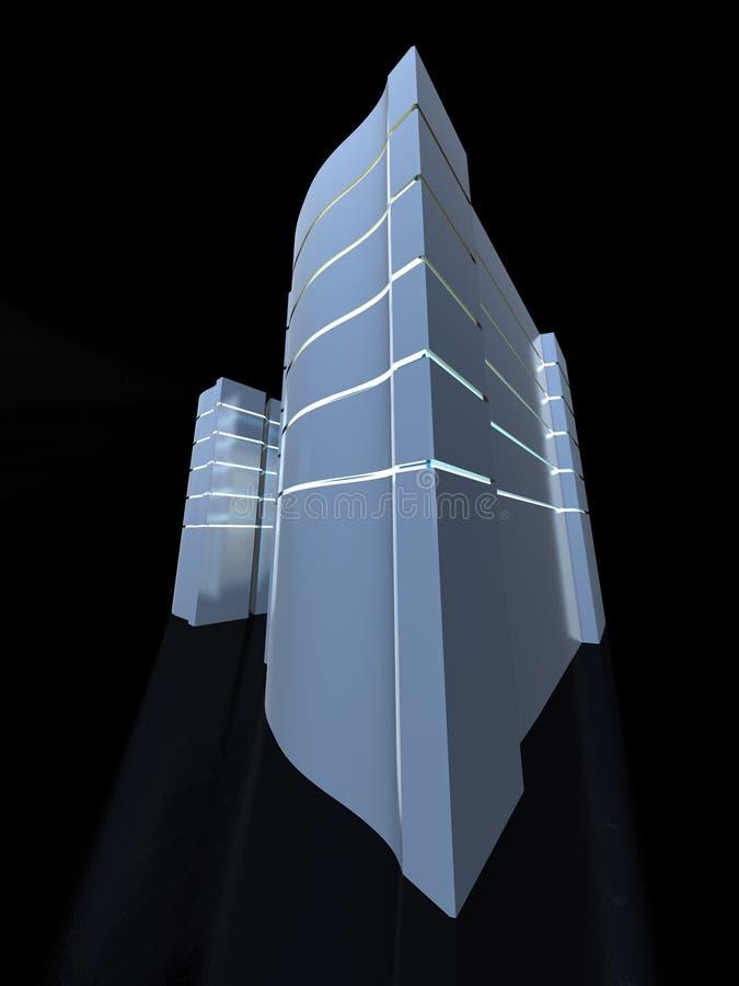 Server-Kontrolltürme stock abbildung