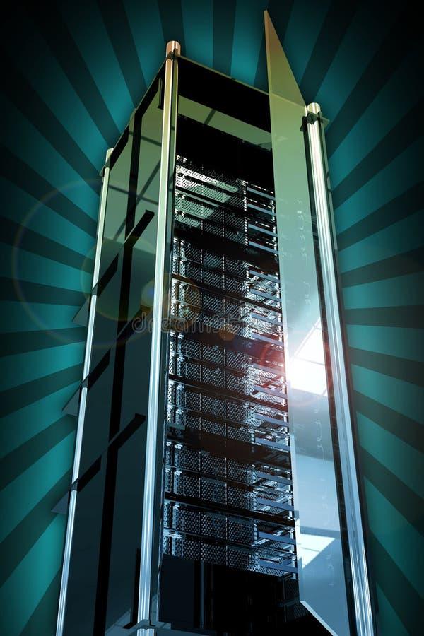 Server-Kontrollturm stock abbildung