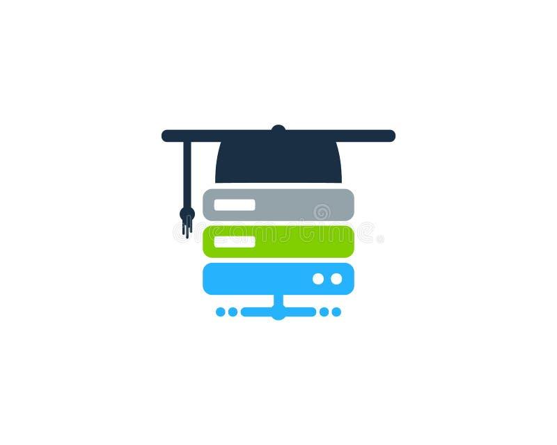 Server Logo Icon Design della scuola illustrazione vettoriale