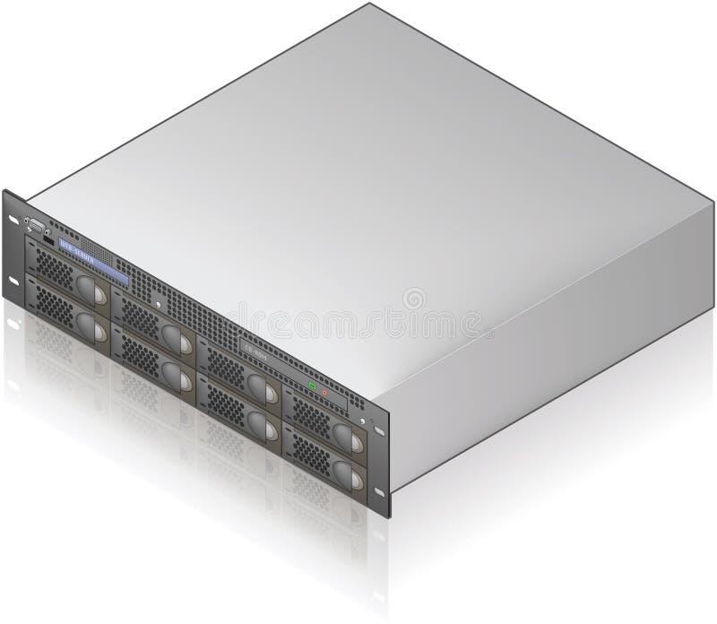 Server-Maßeinheit lizenzfreie abbildung