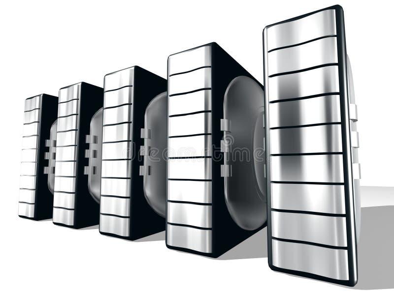 Server mit silbernem Metall vektor abbildung